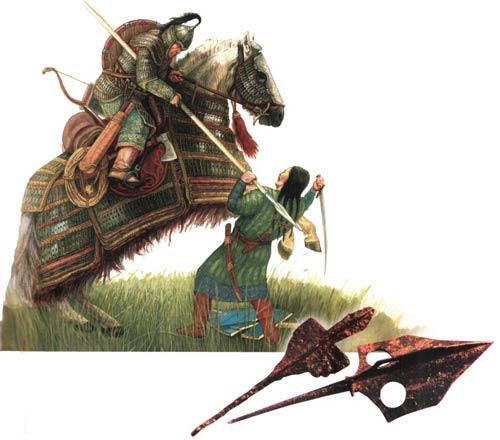 Воины Кыргызского каганата и их противник